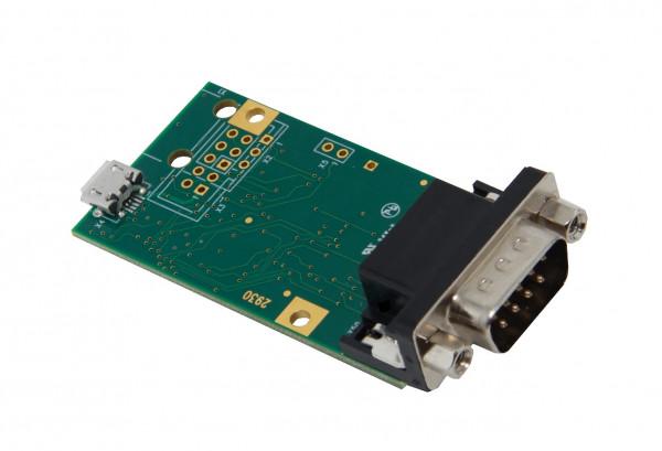 gpio.u.RS232 mit DSUB Stecker und Wannenstiftleiste